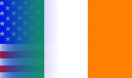 Irish Flag Stars and Stripes Royalty Free Stock Images