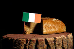 Irish flag on a stump with bread royalty free stock photos