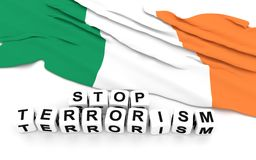 Irish flag and text stop terrorism. Royalty Free Stock Photography