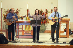 Irish Folk singers, Theiss  and O'Connor Royalty Free Stock Photos
