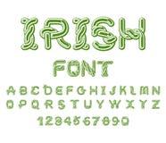 Irish font. National Celtic alphabet. Traditional Ireland orname Royalty Free Stock Image