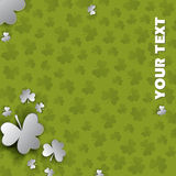 Irish four leaf lucky clovers background for Happy St. Patrick's Day Stock Photography