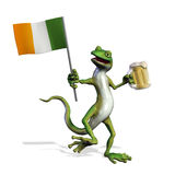 Irish Gecko with Beer Stock Images