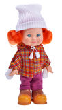Irish ginger pretty girl doll. Isolated on white background Royalty Free Stock Images
