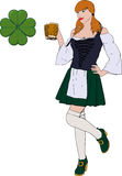 Irish girl with Beer Royalty Free Stock Images