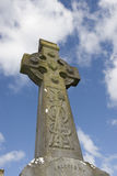 Irish graveyard celtic cross Stock Photos