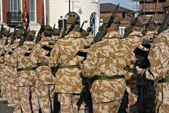 Irish Guards returning home from war Stock Photos