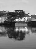 Irish Harbour Village Stock Photo