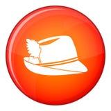 Irish hat icon, flat style Stock Photos