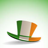 Irish hat on white and green background Stock Photography