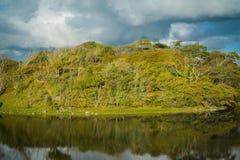 Irish hillside reflection Stock Images