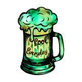 Irish holiday green beer spirit Stock Photo