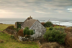 Irish house. Traditional irish house on the coast of atlantic ocean Stock Photos