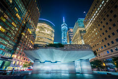The Irish Hunger Memorial and buildings in Battery Park City at Stock Photography