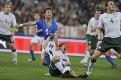 Irish and italian soccer players Royalty Free Stock Images