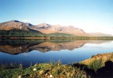 Irish lake. The beautiful lake and hills in Kylemore, west of Ireland stock photography