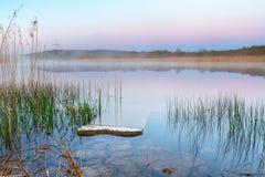 Irish lake before sunrise. In Burren Stock Images