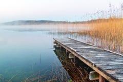 Irish lake before sunrise. In Co. Clare stock photo