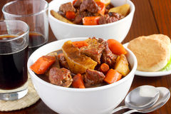 Irish lamb stew. Traditional meat and root vegetable dish that's a perfect meal to serve on St. Patrick's Day Royalty Free Stock Photography