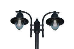 Irish lamppost street lighting cutout Stock Photo