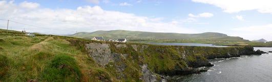 Irish Landscape. Panoramic view in Ireland (Kerry Royalty Free Stock Photo