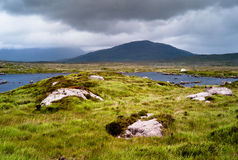 Irish landscape. In a gloomy day Stock Photography