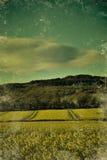 Irish landscape. In retro, polaroid style Stock Images