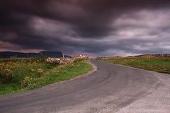 Irish landscape. Backroad in sligo, north west ireland stock photos