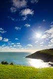 Irish landscape. coastline atlantic coast County Cork, Ireland. Irish landscape. Coastline atlantic ocean coast scenery cloudy blue sky, Church Bay County Cork Royalty Free Stock Photo