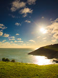 Irish landscape. Coastline atlantic ocean coast scenery. Stock Photography