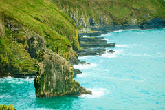 Irish landscape. Coastline atlantic ocean coast scenery. Royalty Free Stock Images