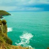 Irish landscape. Coastline atlantic ocean coast scenery. Royalty Free Stock Image