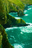Irish landscape. Coastline atlantic ocean coast scenery. Royalty Free Stock Photos