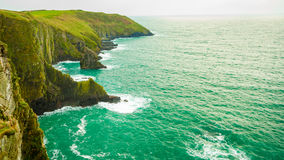 Irish landscape. Coastline atlantic ocean coast scenery. Royalty Free Stock Photo