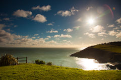 Irish landscape. Coastline atlantic ocean coast scenery. Stock Image