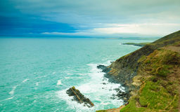 Irish landscape. Coastline atlantic ocean coast scenery. Stock Photo