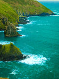 Irish landscape. Coastline atlantic ocean coast scenery. Stock Images