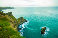 Irish landscape. Coastline atlantic ocean coast scenery. Royalty Free Stock Photos