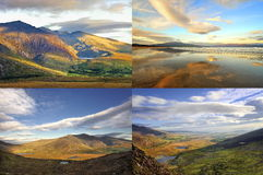 The Irish landscape - collage, nature Royalty Free Stock Photography