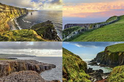The Irish landscape - collage, nature Royalty Free Stock Photos