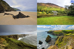 The Irish landscape - collage, nature Stock Images