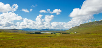 Irish landscape. This is a landscape of Connemara district in the west of Ireland of which the boundaries are not well defined. Lake, rivers, green mountains and stock image