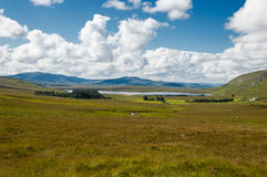 Irish landscape. This is a landscape of Connemara district in the west of Ireland of which the boundaries are not well defined. Lake, rivers, green mountains and royalty free stock image