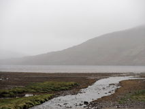 Irish Landscape With Hills And Fog Royalty Free Stock Photo