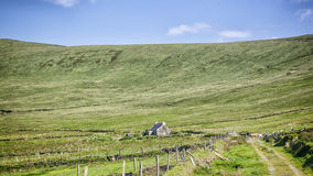 Irish landscape. An image of a beautiful irish landscape with an old house Royalty Free Stock Images