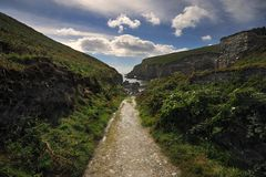The Irish landscape, Ireland, nature, Clifs Royalty Free Stock Photo