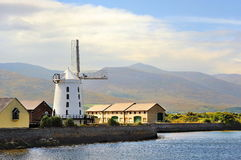 The Irish landscape, Ireland, Wind Mill Stock Photo