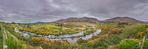 Irish landscape panorama Royalty Free Stock Image