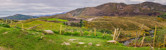 Irish landscape panorama Stock Photos