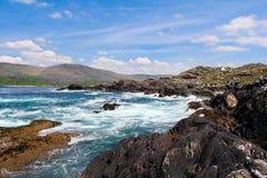 Irish landscape in Ring of Kerry coastal road Stock Photos